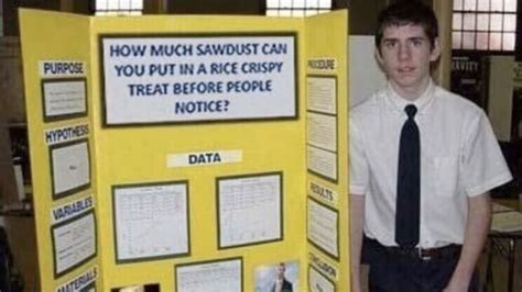 fake science fair projects   meme
