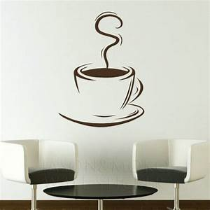 coffee cup removable kitchen wall stickers wall decals With kitchen colors with white cabinets with 3d coffee cup wall art
