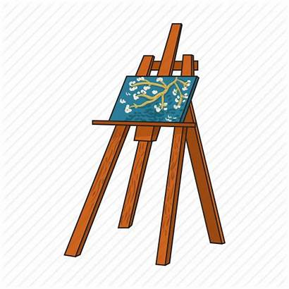 Easel Paint Clipart Icon Canvas Stand Painting