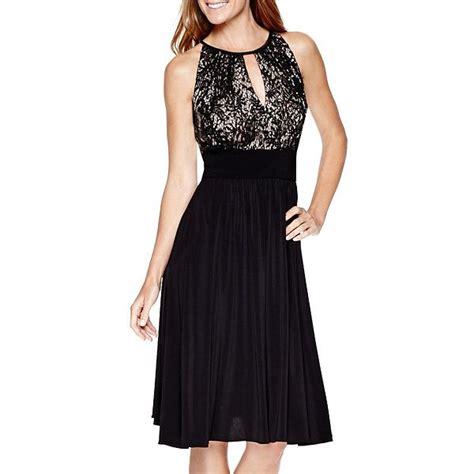 r m richards sleeveless sequin lace halter dress