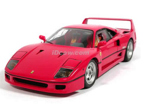 A very fast berlinetta designed by pininfarina, it was built mainly from composites. 1989 Ferrari F40 diecast model car 1:18 scale die cast by Hot Wheels Elite - Red J2925