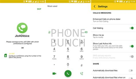 jiojoin is now jio 4g voice brings with its new dialer chat heads like overflow option