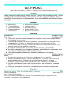Merchandising Resume Objective Exles by Unforgettable Merchandiser Retail Representative Part Time