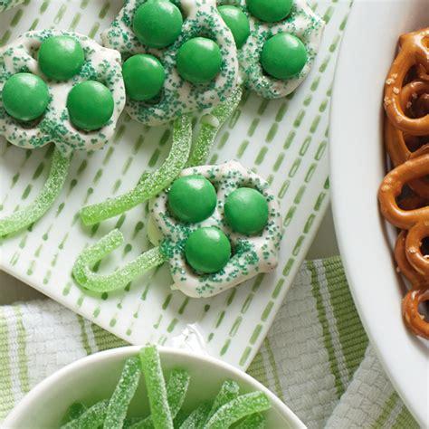 chocolate covered green clover pretzels recipe hallmark