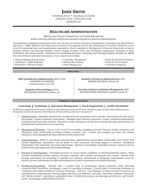 Project Administrator Resume by Healthcare Administration Resume By C Coleman