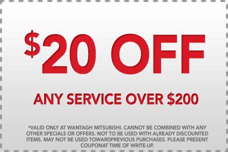Mitsubishi Coupons by Wantagh Mitsubishi Wantagh Mitsubishi Service Coupons