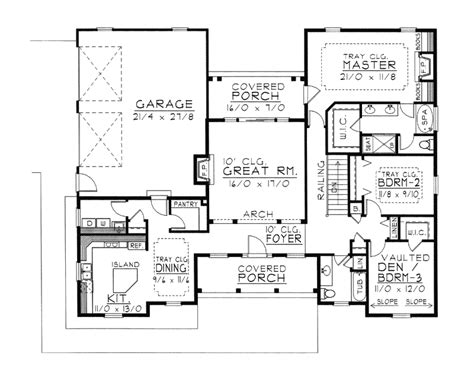 Delightful Symmetrical Floor Plans by Celia Hill Ranch Home Plan 096d 0017 House Plans And More