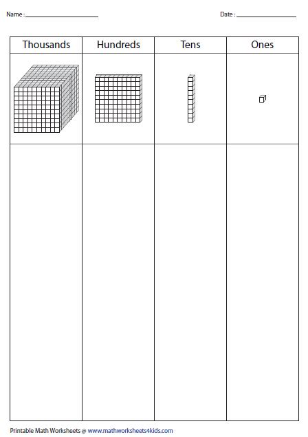images  tens   blocks worksheets math