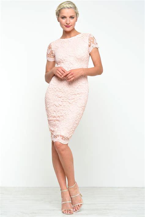 ax paris adele crochet lace midi dress  pink iclothing
