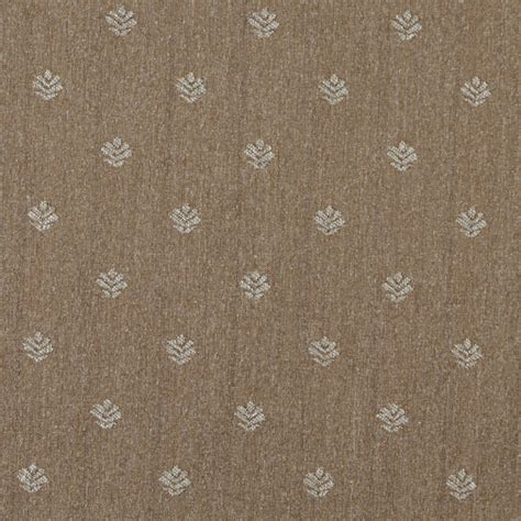 Country Upholstery Fabric by Light Brown And Beige Leaves Country Upholstery Fabric By