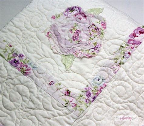 shabby chic baby quilt shabby chic roses baby quilt quilts and patterns