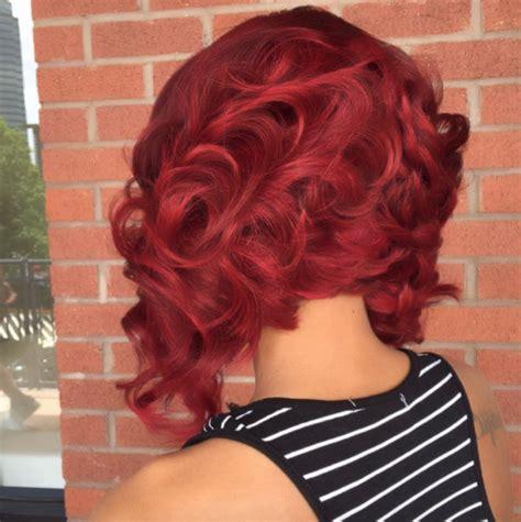 Love this red bob via @hairbychantellen - Black Hair Information
