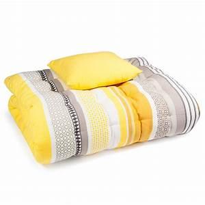 Matelas De Bain De Soleil : matelas bain de soleil en coton jaune gris 70 x 160 cm porto maisons du monde ~ Teatrodelosmanantiales.com Idées de Décoration