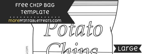 chip bag template for chip bag template large