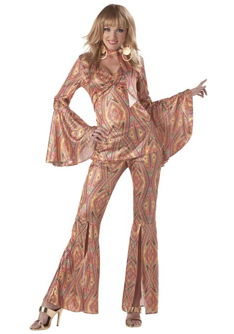 Womens 70s Disco Costume - Adult 1970s Halloween Costumes