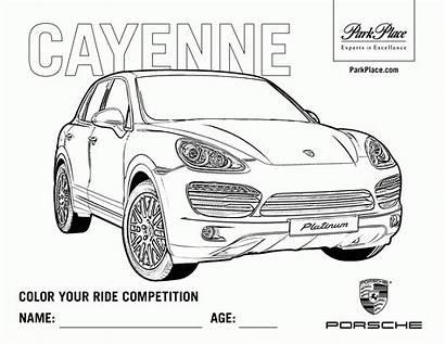 Coloring Pages Porsche Coloriage Printable Moto Truck