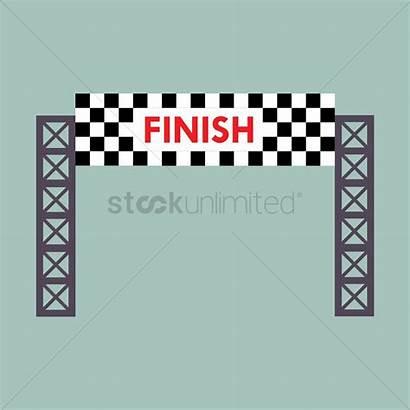Finish Line Banner Vector Graphic Race Start