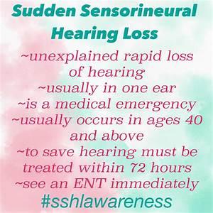 Sudden Sensorineural Hearing Loss  Sshl  Awareness