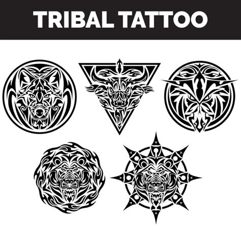 tribal tattoos collection vector