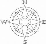Rose Compass Coloring Nautical Binged sketch template