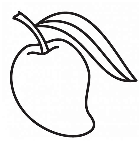 Coloring Mango by Best Mango Coloring Page For