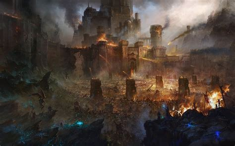 fortress siege artwork battle siege castle army