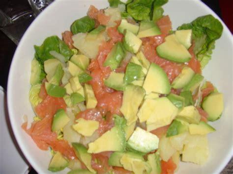 salade de saumon fum 233 pomme de terre et avocat ma