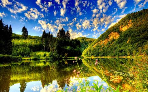 Nature Wallpaper Desktop by Sommer Natur Hd Desktop Hintergrund Breitbild High