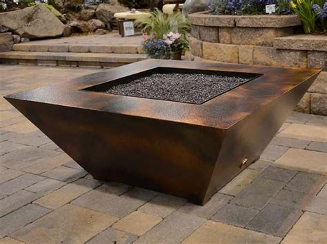 Fire pit table with wicker base. Fire Pit Travertine Patio Backyard Apartments Coffee Table ...