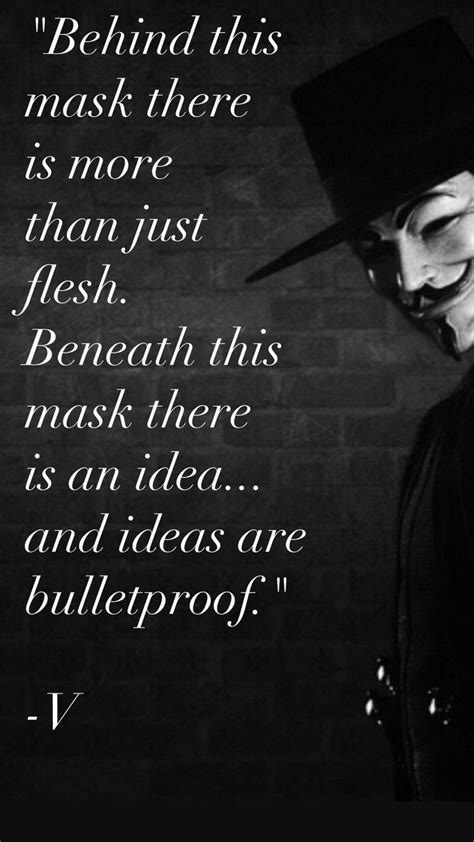 This is from Alan Moore's comic book, V for Vendetta