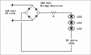 line powered white leds led and light circuit circuit With great white led wiring diagram