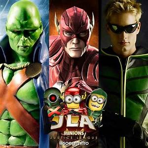Justice League Minions Martian Manhunter~Flash~Green Arrow ...