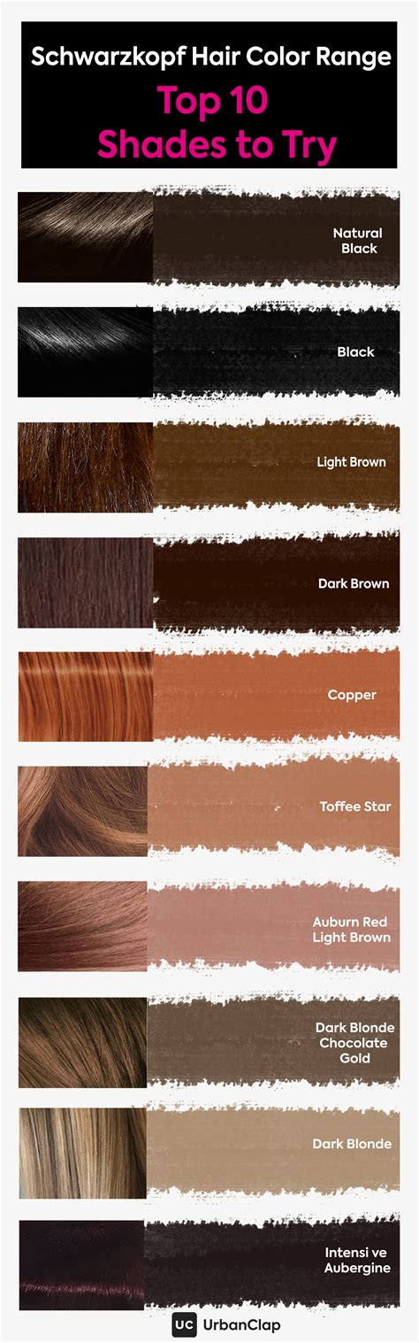 Hair Shade Colors by Schwarzkopf Hair Color Range Top 10 Shades For Indian
