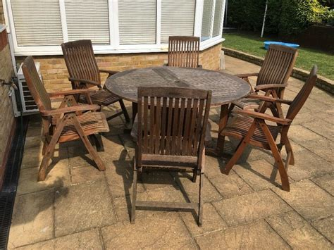 teak garden patio  table winchester  reclining