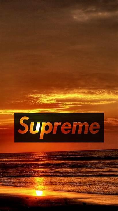 Supreme Sunset Wallpapers Mobile Desktop Iphone Wallpapersafari