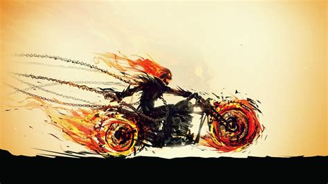 ghost rider motorcycle   wallpaper