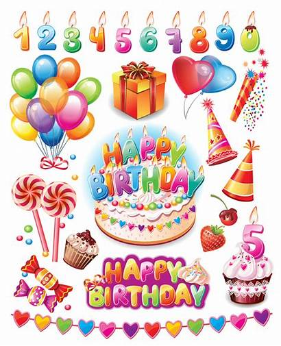 Birthday Happy Party Vector Supplies Eps Packages