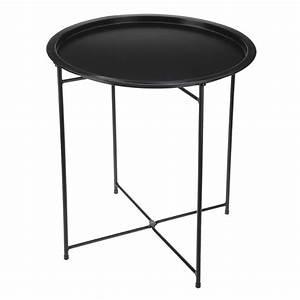 Table Pliante D Appoint : table d 39 appoint pliante aguza noir meuble d 39 appoint ~ Melissatoandfro.com Idées de Décoration