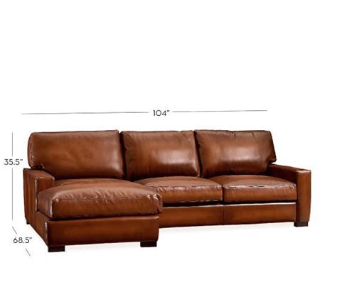 pottery barn turner sofa quality turner square arm leather 2 chaise sectional
