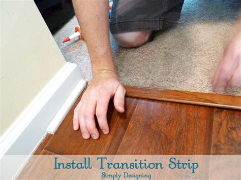 Laminate Floor Transition Molding by How To Install Floating Laminate Wood Flooring Part 3