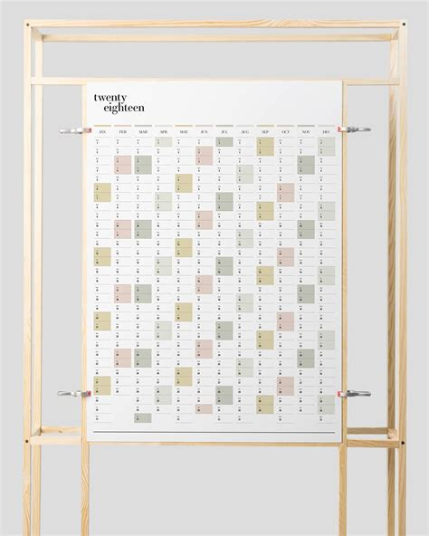 printable wall planner duo portrait wall