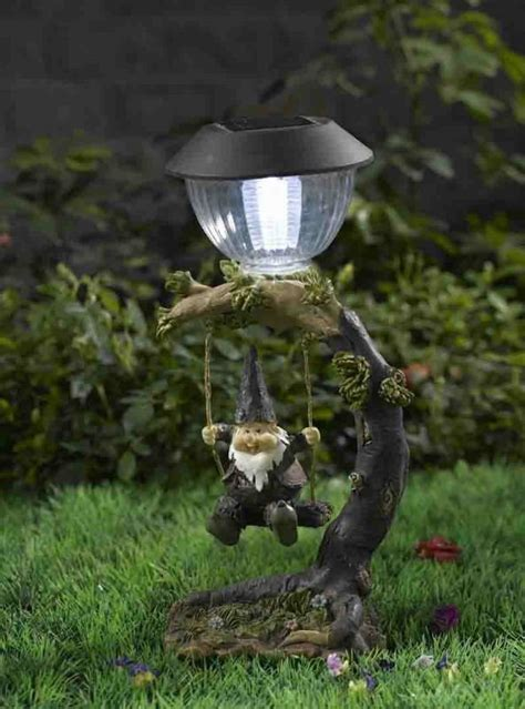 garden gnome decor with solar light china mainland gifts