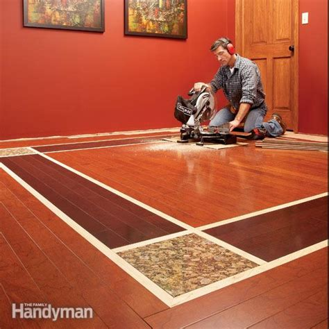 diy hardwood floors lay  contrasting border  family