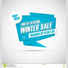 Winter Sale End Of Season Special Offer Banner, Discount Up To 50% Off Shop Now! Vector