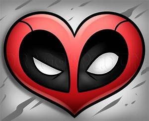 Deadpool Heart Drawing Tutorial  Step By Step  Drawing