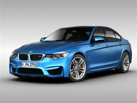 Bmw M3 Sedan F30 2015 3d Model Max Obj 3ds Fbx