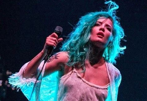 halsey green hair feminine beauty pinterest hair