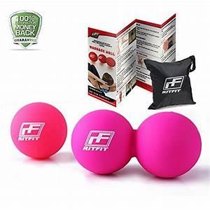 Ritfit Peanut Massage Lacrosse Ball For Myofascial Release