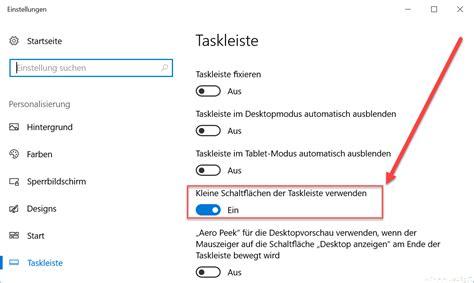kleine symbole windows 10 taskbar auf kleine symbole umschalten 187 einstellungen icons registry symbole
