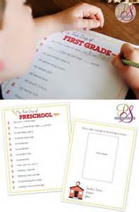 Free Printable First Day Interview School